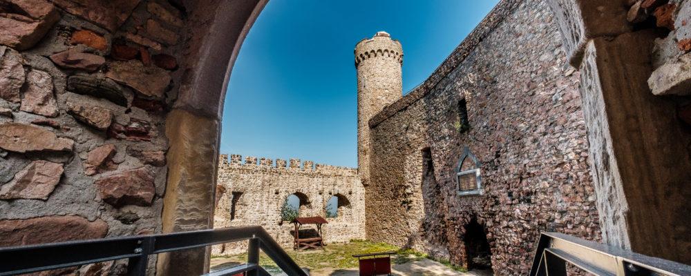 Innenhof von Schloss Auerbach, für gäste der Ferienwohnung immer erreichbar