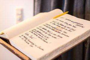 Unser Gästebuch mit vielen Danksagungen