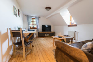 Wohnzimmer der Ferienwohnung Zwergenreich