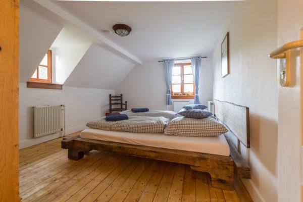 Schlafzimmer der Ferienwohnung Zwergenreich