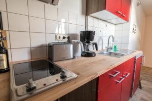 Küche der Ferienwohnung Zwergenreich