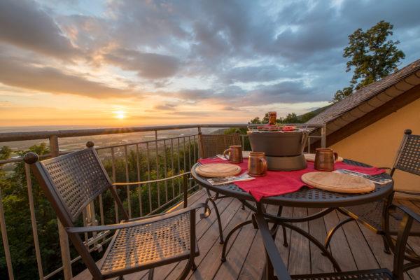BBQ auf der Terrasse der Ferienwohnung Nibelungenland