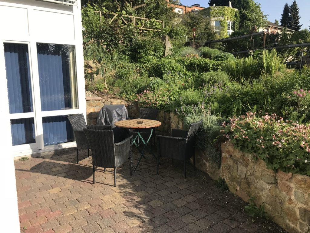 Geniessen Sie die Zeit auf der Terrasse der Ferienwohnung Rita